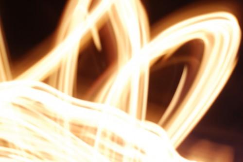 Long exposure shot of fire