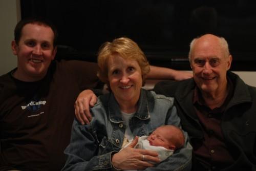 Baby, Dad, Grandma, and Great Grandpa - Four Generations
