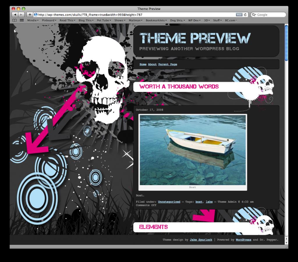 Skull WordPress Theme
